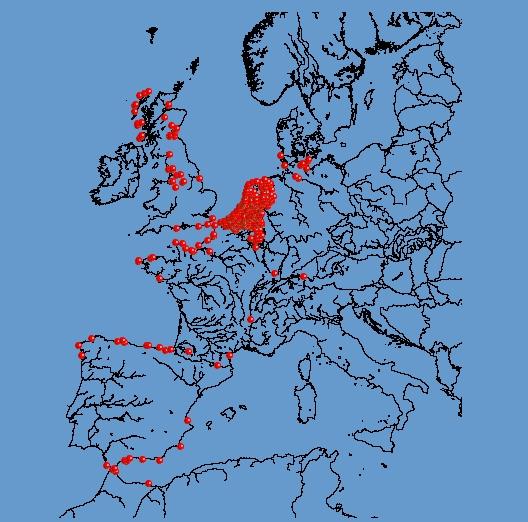 mapa de observatorios de aves en europa
